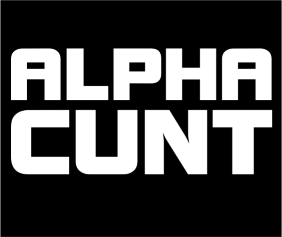 Alpha Cunt Black Logo