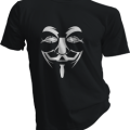 Anonymous Mask Mens Black Tshirt