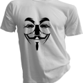 Anonymous Mask Mens White Tshirt