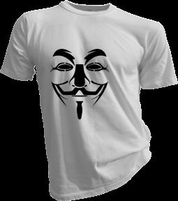 Anonymous Mask Mens White Tshirt