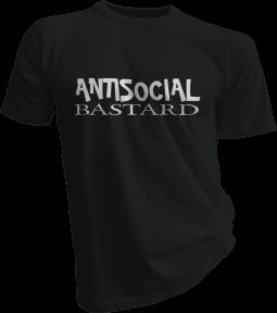 Antisocial Bastard Mens Black Tshirt