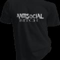 Antisocial Bitch Black Tshirt