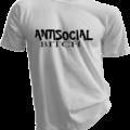Antisocial Bitch White Tshirt