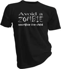 Avoid A Zombie Sacrifice The Child Black Tshirt