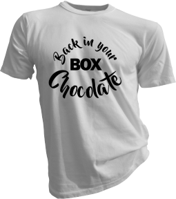 Back In Your Box Chocolate White Tshirt
