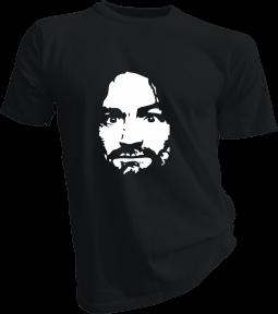 Charles Manson Mens Black Tshirt