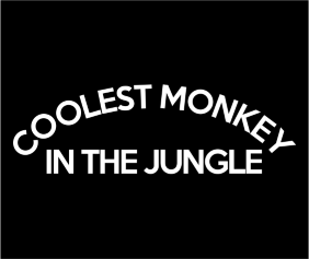 Coolest Monkey In The Jungle Black Logo