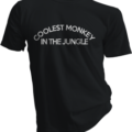 Coolest Monkey In The Jungle Black Tshirt