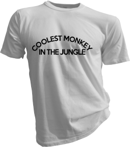 Coolest Monkey In The Jungle White Tshirt