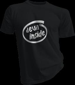 Devil Inside Mens Black Tshirt