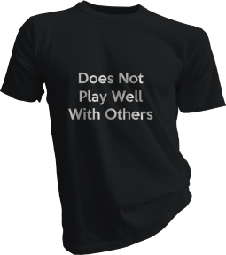 Does Not Play Well With Others Mens Black Tshirt