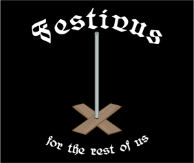 Festivus For The Rest Of Us Black Tshirt Logo
