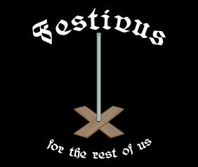 Festivus For The Rest Of Us Black Tshirt Logo