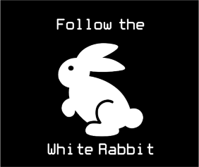 Follow The White Rabbit Black Logo
