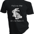 Follow The White Rabbit Black Tshirt