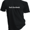 Fuck Facebook Black Tshirt