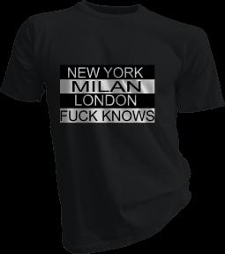 Fuck Knows Mens Black Tshirt