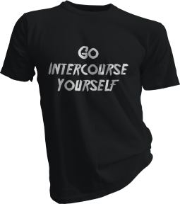 Go Intercourse Yourself Mens Black Tshirt