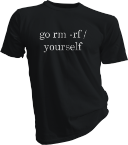 Go Rm -Rf Yourself Black Tshirt