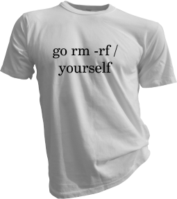 Go Rm -Rf Yourself White Tshirt