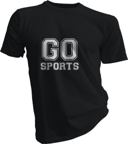Go Sports Mens Black Tshirt