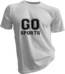 Go Sports Mens White Tshirt