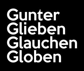 Gunter Glieben Glauchen Globen