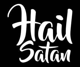 Hail Satan Black Tshirt Logo