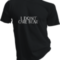I Dont Care Bear Mens Black Tshirt