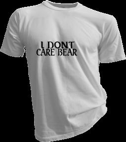 I Dont Care Bear Mens White Tshirt