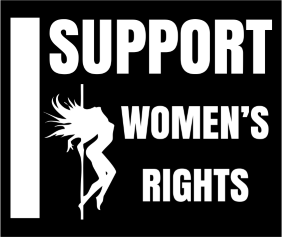 I Support Womens Rights Black Logo