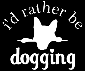 Id Rather Be Dogging Black Logo