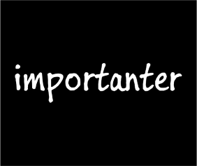 importanter-black-tshirt-logo