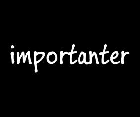 importanter-black-tshirt-logo