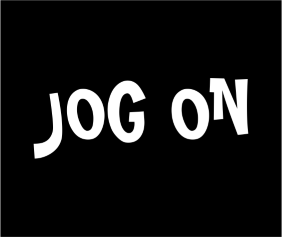 Jog On Black Tshirt Logo