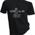 Keep Calm And Have You Tried Turning It Off And On Again Mens Black Tshirt