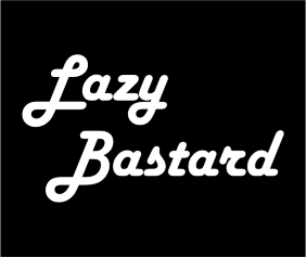 Lazy Bastard Black Tshirt Logo
