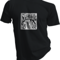Make Love Not War Mens Black Tshirt
