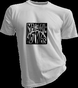 Make Love Not War Mens White Tshirt