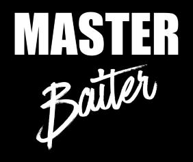 master-baiter-black-tshirt-logo