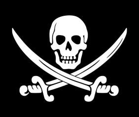 Pirate Flag Black Tshirt Logo