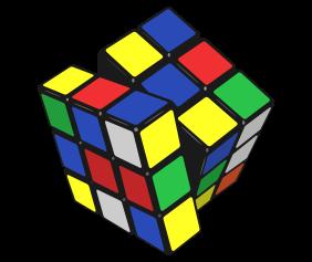 Rubiks Cube White Tshirt Logo