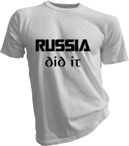 Russia Did It White Tshirt
