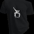 Skateboard Kick Flip Mens Black Tshirt