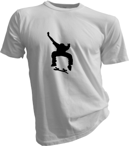 Skateboard Kick Flip Mens White Tshirt