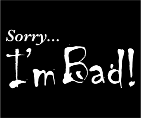 Sorry Im Bad Black Logo