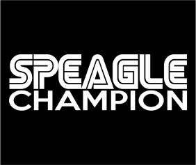 Speagle Champion Black Tshirt Logo