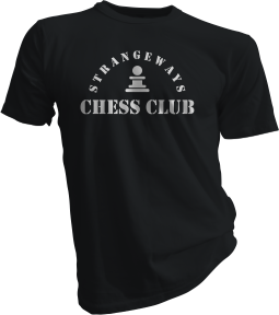 Strangeways Chess Club Black Tshirt