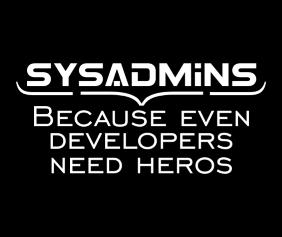 Sysadmins White Logo