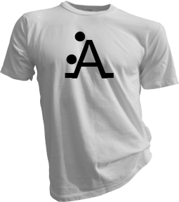 The A Position Mens White Tshirt